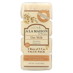 A La Maison - Bar Soap - Oat Milk - Value 4 Pack