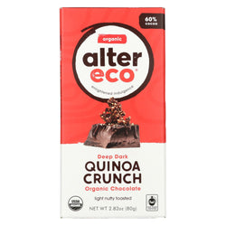 Alter Eco Americas Organic Chocolate Bar - Dark Quinoa - 2.82 Oz Bars - Case Of 12