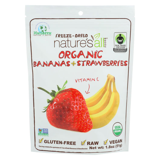 Natierra Freeze Dried - Bananas And Strawberries - Case Of 12 - 1.8 Oz.