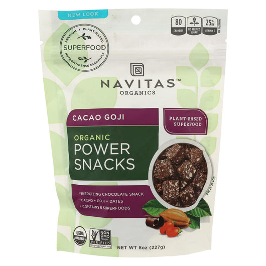 Navitas Naturals Snacks - Organic - Power - Cacao Goji - 8 Oz - Case Of 12