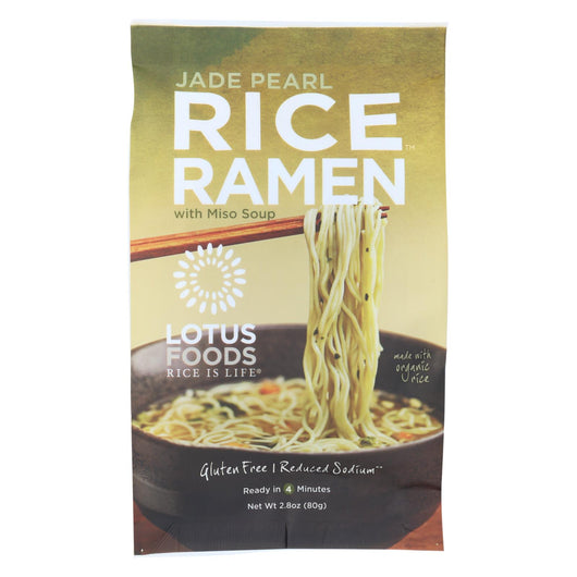 Lotus Foods Ramen - Organic - Jade Pearl Rice - With Miso Soup - 2.8 Oz - Case Of 10
