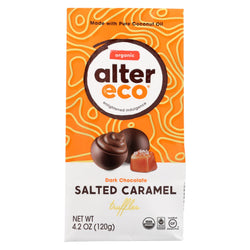 Alter Eco Americas Truffles - Salted Caramel - Case Of 8 - 4.2 Oz.