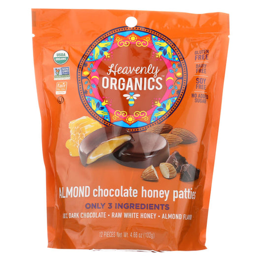 Heavenly Organics Heavenly Organic Honey Pattie - Chocolate - Case Of 6 - 4.66 Oz.
