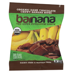 Barnana Organic Chewy Banana Bites - Chocolate - Case Of 12 - 1.4 Oz