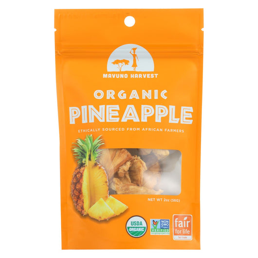 Mavuno Harvest - Organic Dried Fruit - Dried Pineapple - Case Of 6 - 2 Oz.