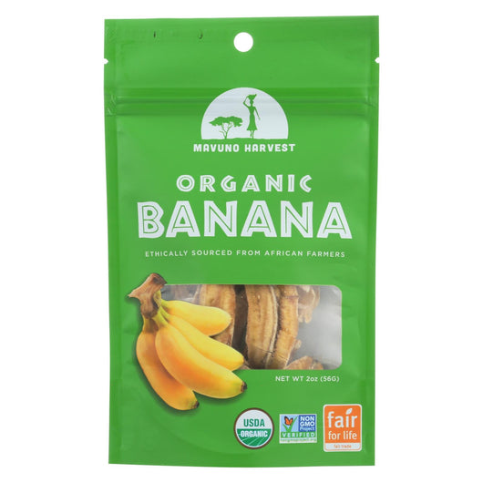 Mavuno Harvest - Organic Dried Fruit - Dried Banana - Case Of 6 - 2 Oz.