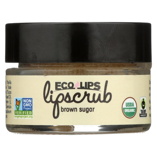 Ecolips Organic Lip Scrub - Brown Sugar - Case Of 6 - 0.5 Oz.