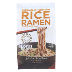 Lotus Foods Buckwheat Mushroom Brown Rice Ramen With Vegetable Soup - Case Of 10 - 2.8 Oz.