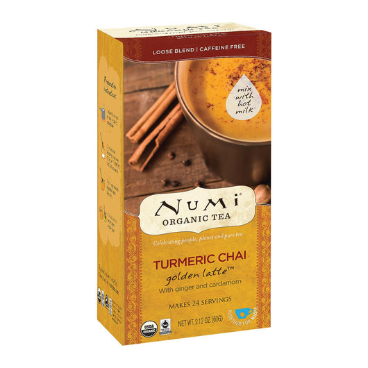 Numi Tea Golden Latte - Organic - Turmeric Chai - Case Of 6 - 2.12 Oz