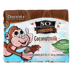 So Delicious Coconut Milk - Chocolate Organic Dairy Free - 6pk - Case Of 3 - 6-8 Fl Oz