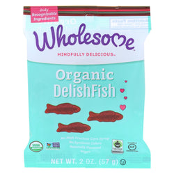 Wholesome! Organic Candy - Delishfish - Case Of 12 - 2 Oz