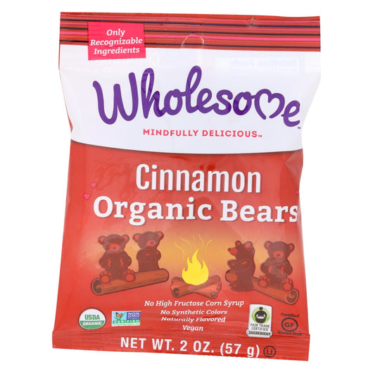 Wholesome! Candy - Organic - Cinnamon Bears - Case Of 12 - 2 Oz