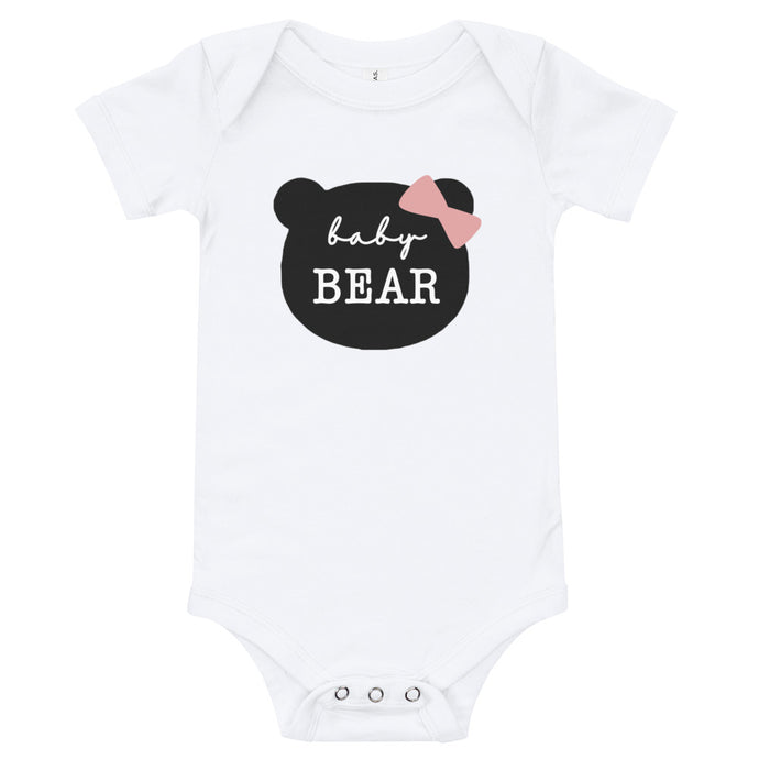 Baby Bear or Littlest Bear (Bow) Baby Onesie / T-shirt - North Jems
