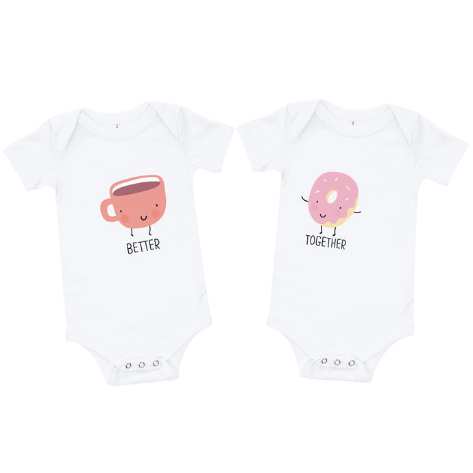 Better Together Coffee and Donut Baby Onesie / T-shirt - North Jems