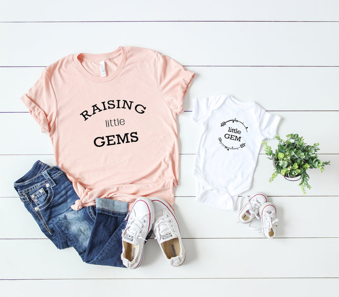 Raising Little Gems Adult Short-Sleeve Unisex T-Shirt - North Jems