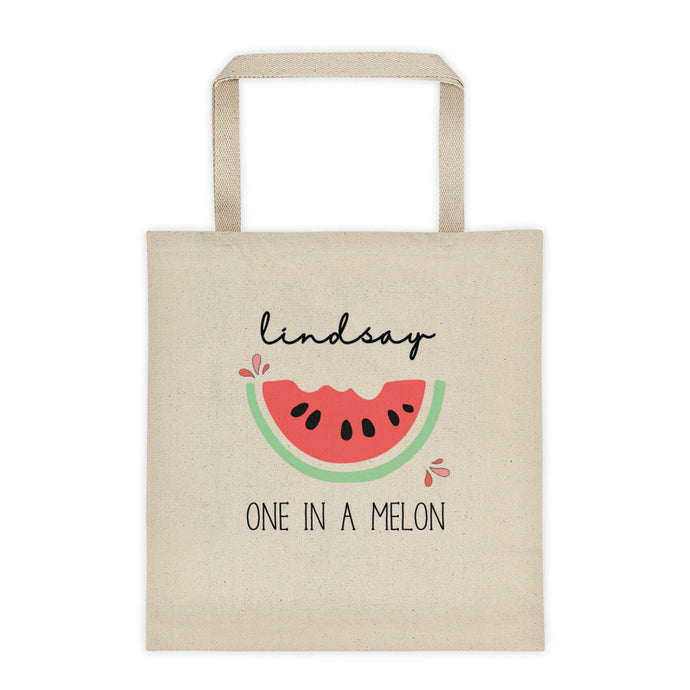 One In Melon Personalized Canvas Tote Bag - North Jems