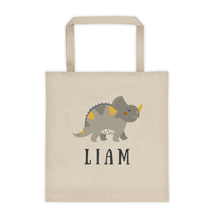 Dinosaur Personalized Canvas Tote Bag - North Jems