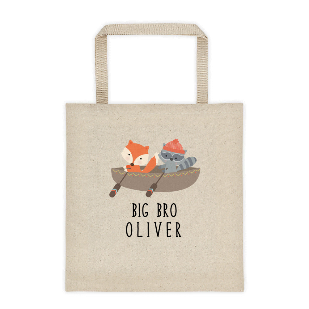 Big Brother Camping Personalized Canvas Tote Bag - North Jems