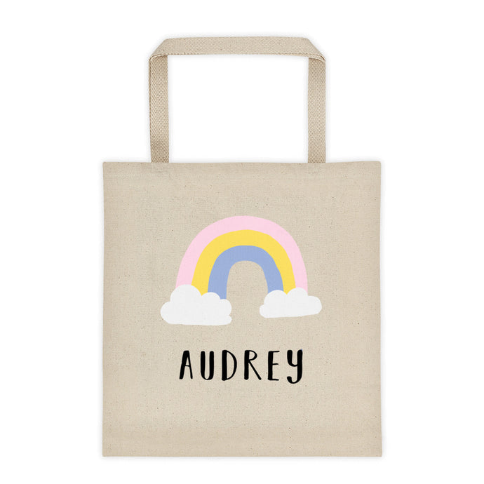 Rainbow Personalized Canvas Tote Bag - North Jems