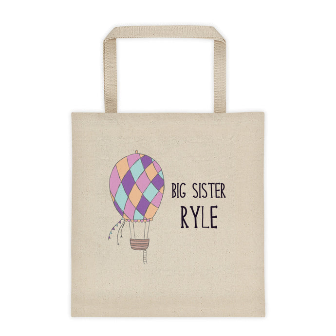 Hot Air Balloon Personalized Canvas Tote Bag - North Jems