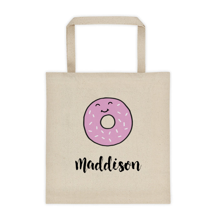 Donut Personalized Canvas Tote Bag - North Jems