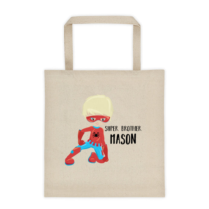 Big Brother Superhero Personalized Canvas Tote Bag - North Jems