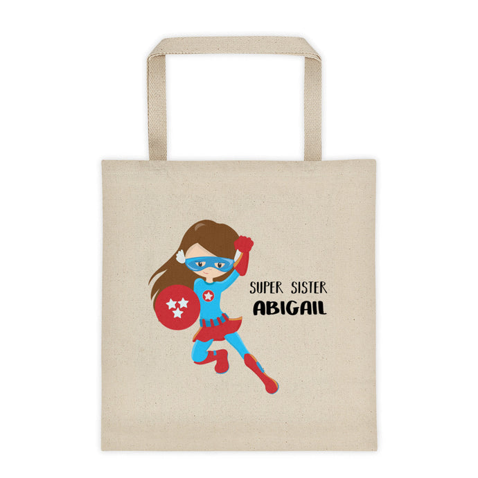 Big Sister Superhero Personalized Canvas Tote Bag - North Jems
