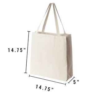 School Supplies Personalized Canvas Tote Bag - North Jems