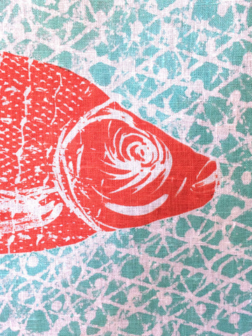 Screenprinted Tea Towel - surfaced