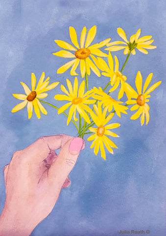 Finding Some Sunshine print by Julia Raath
