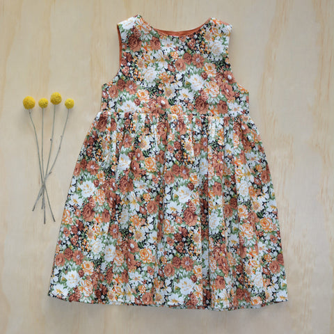 Tea Dress -  Autumn Florals