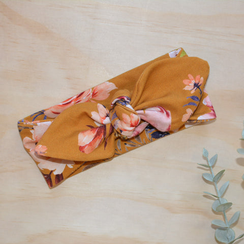Top Knot Headband - Mustard Zara