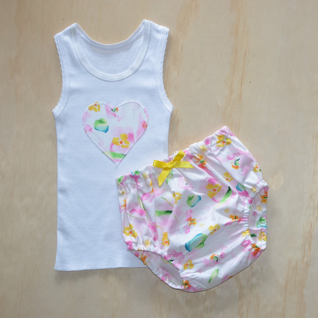 Bloomer & Singlet Set - Bright summer