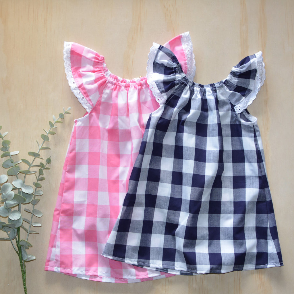 Summer Dress - Pink or Navy