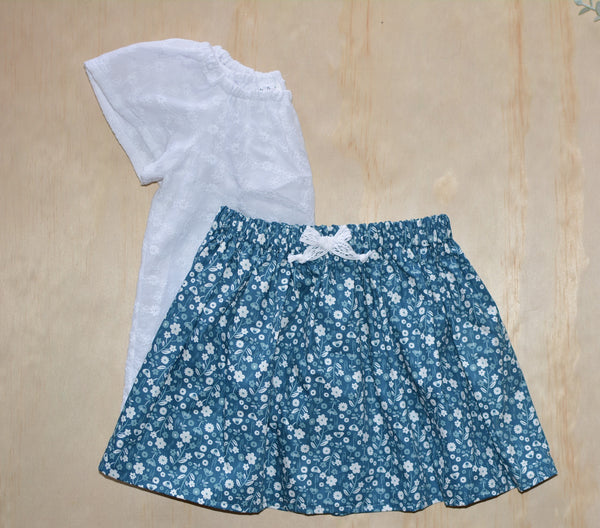 Simple Skirt - Blue and Greys