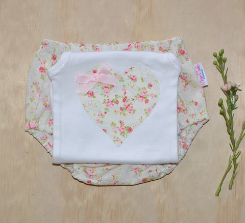Bloomers & Singlet Set - Cream Floral