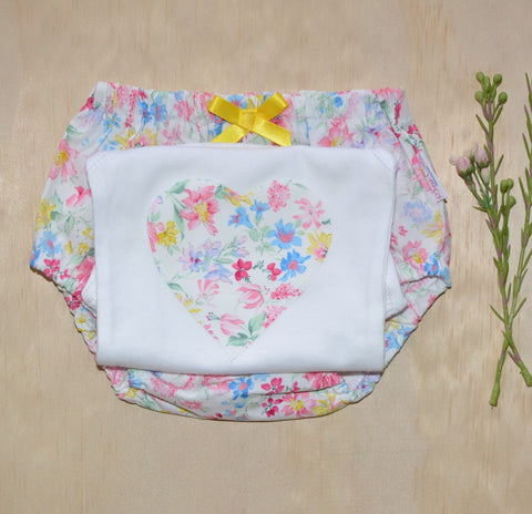 Bloomers & Singlet Set - Multi colour Floral