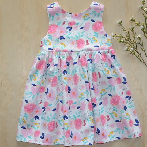 Tea Dress - Pink & Teal Floral