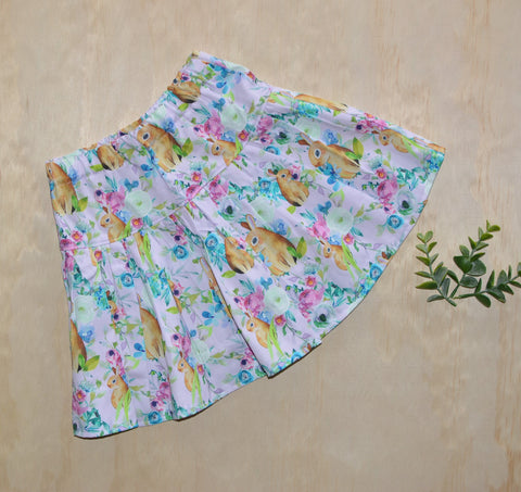 Twirly Skirt -Bunny floral