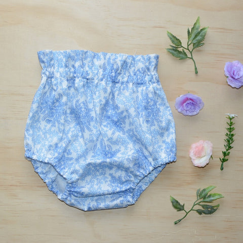 High Waist Bloomers - Blue & White