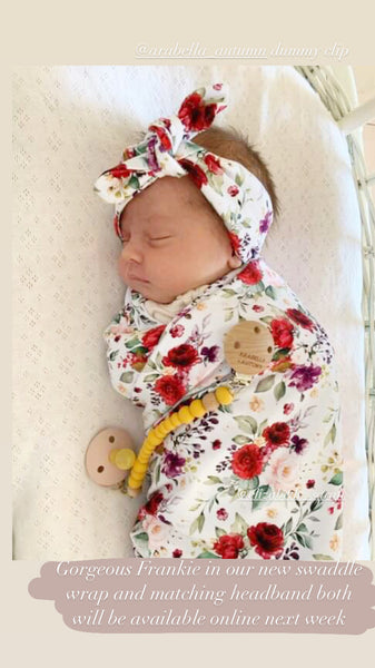 Swaddle / Wrap - Red Blooms