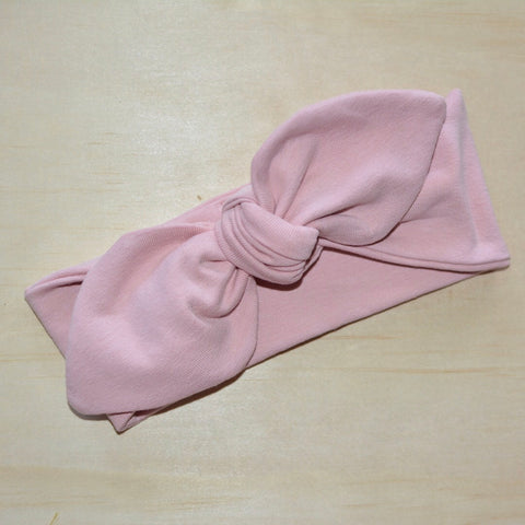 Top Knot Headband - Dusty Pink
