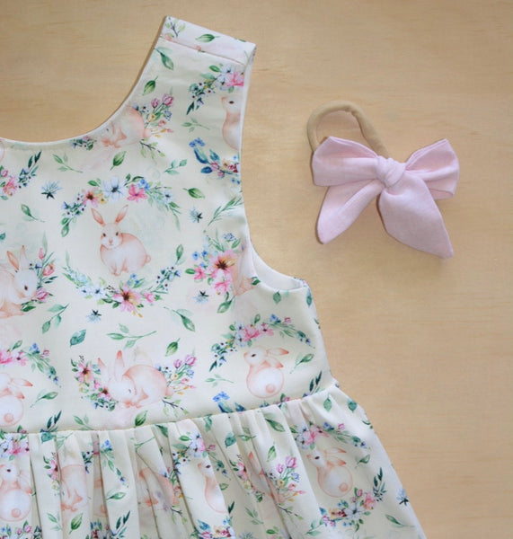 Tea Dress - Yellow Bunny