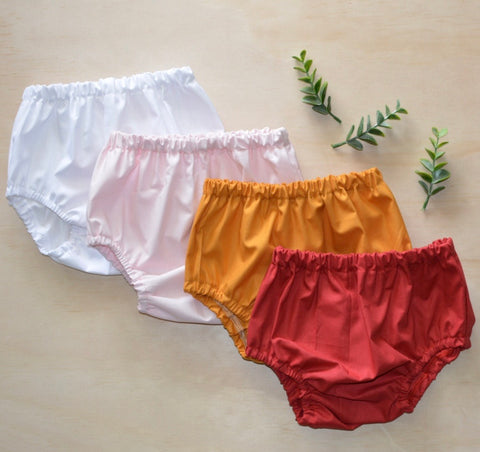 Basic Bloomers - Red, White, Mustard, Light pink,