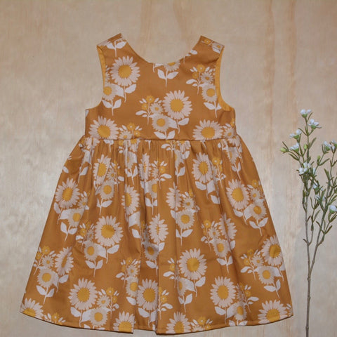 Tea Dress - Retro Sunflower