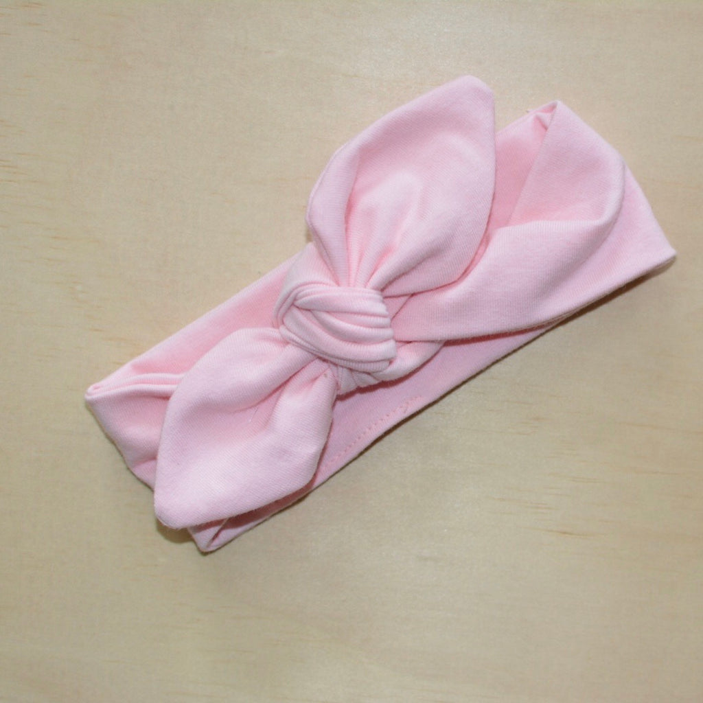 Top Knot Headband - Baby Pink