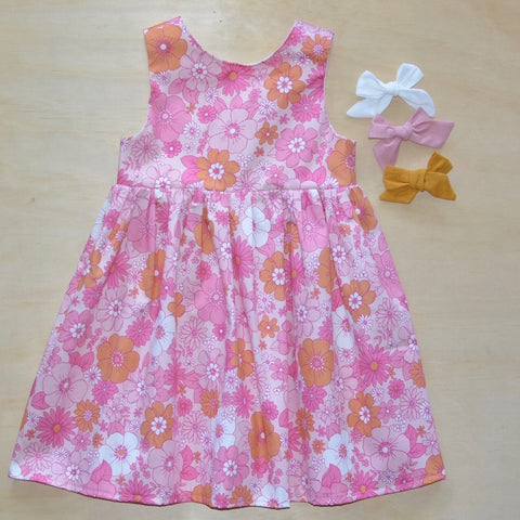 Tea Dress - Retro Pink Floral