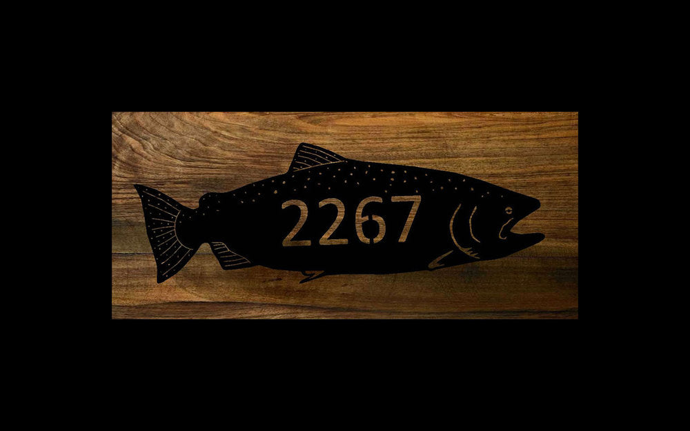 Chinook Salmon, Address Sign