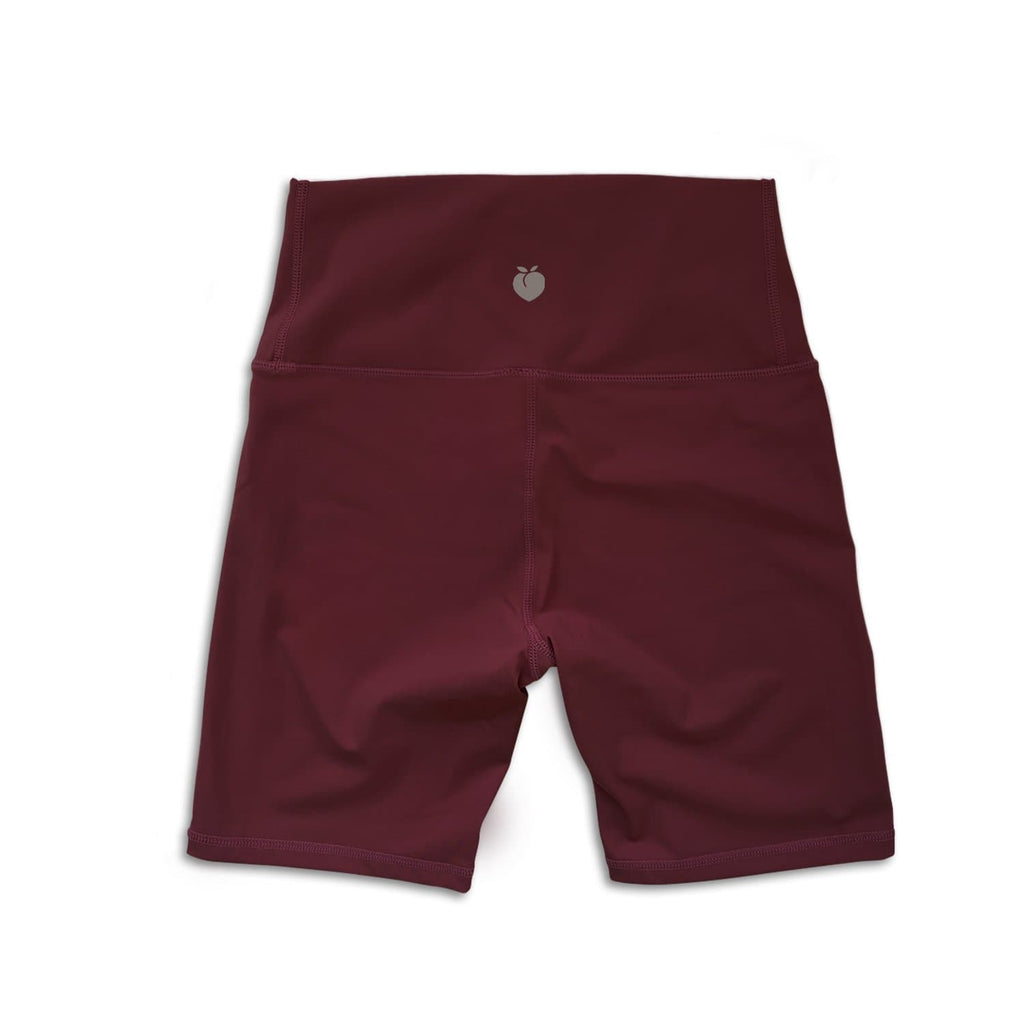 Sleek Biker Short - Burgundy