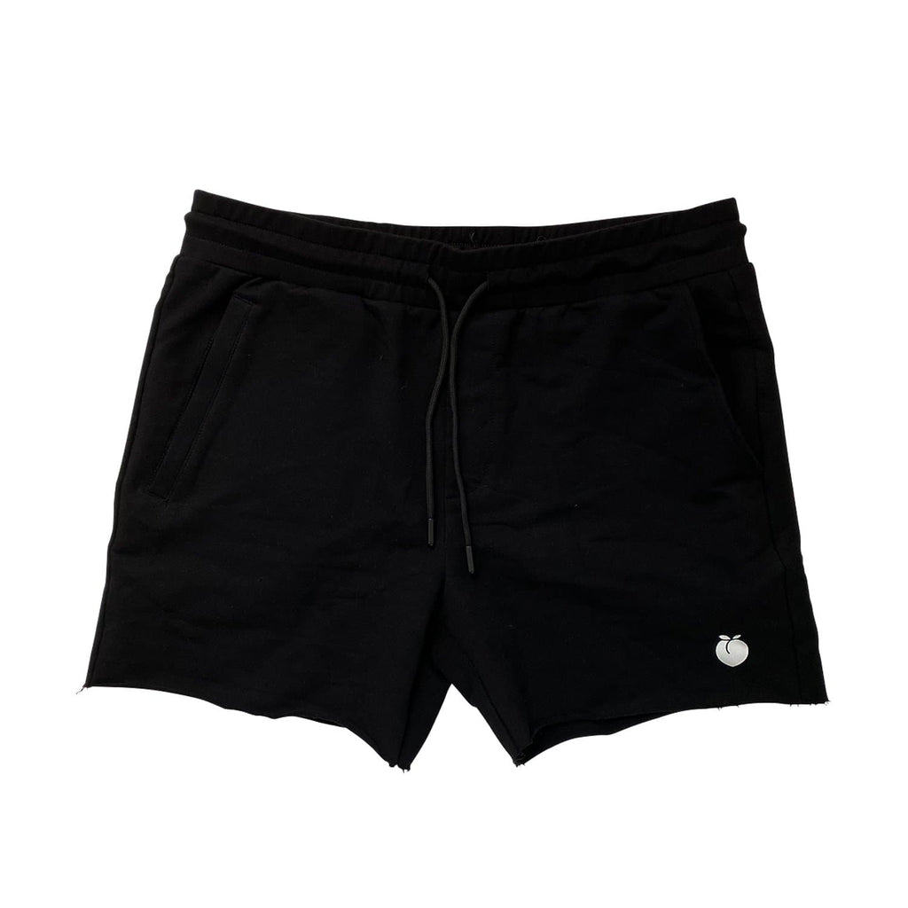 Men's French Terry Bodybuilding Shorts - Black